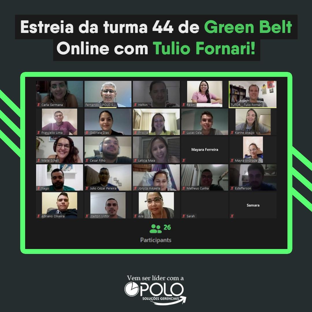 Estreia da turma 44 de Green Belt Online