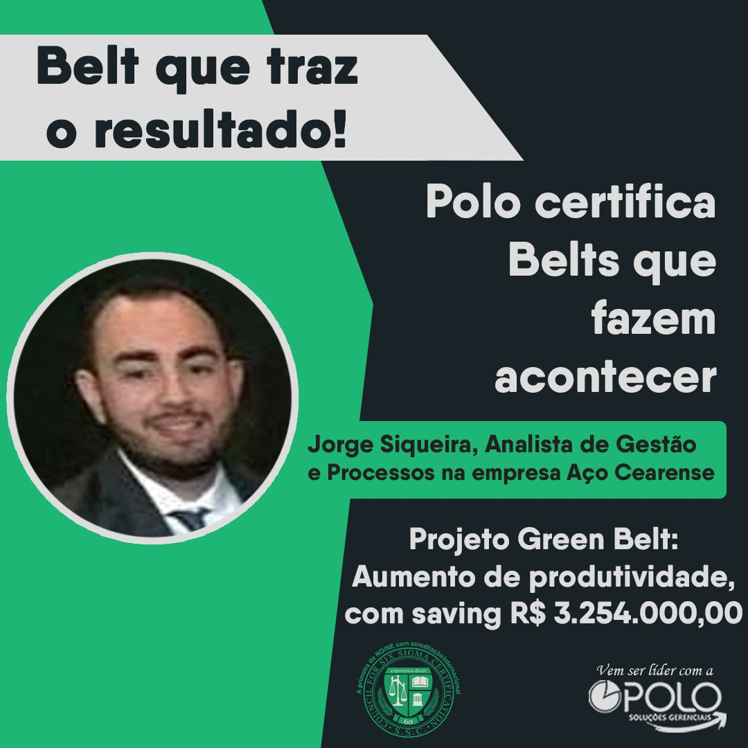 Resultado de projeto Green Belt