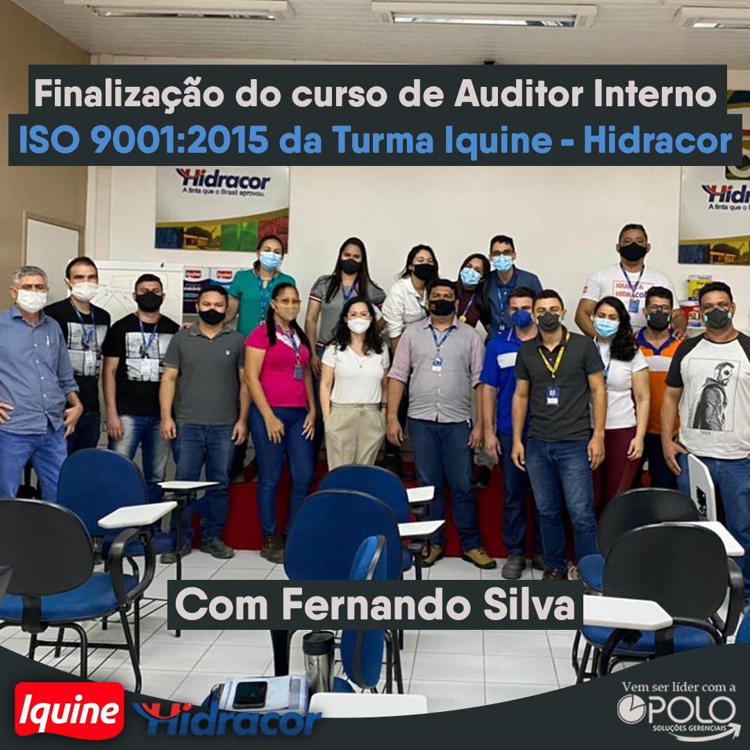 Auditor Interno da ISO 9001:2015 – Turma Inquine Hidracor